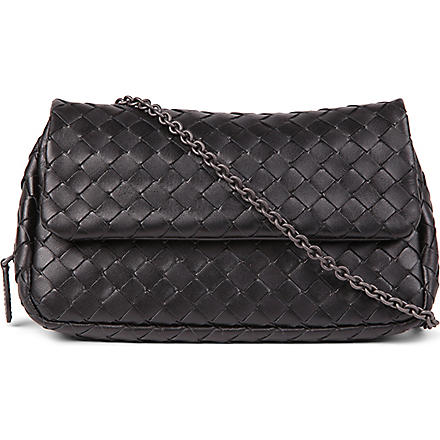 BOTTEGA VENETA Messenger nappa bag (Nero
