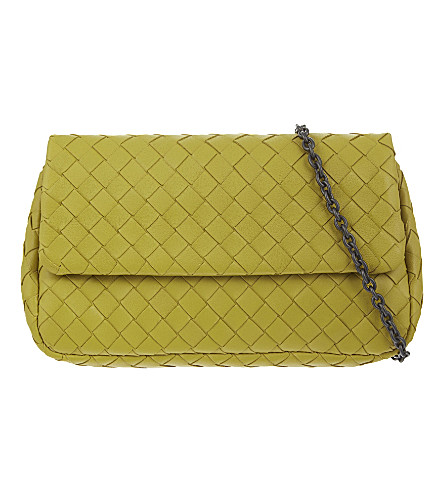 BOTTEGA VENETA Intrecciato Nappa leather messenger bag (Ancient+gold