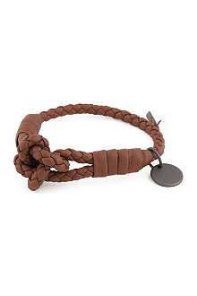 BOTTEGA VENETA Woven leather knot bracelet