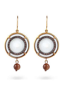 BOTTEGA VENETA Round diamante earrings