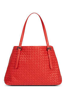 BOTTEGA VENETA Woven leather open tote