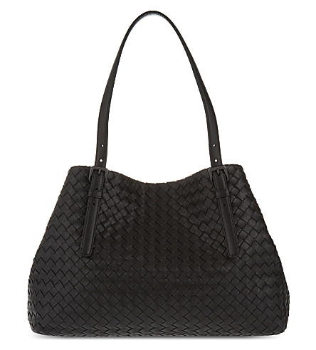 BOTTEGA VENETA Intrecciato leather tote (Nero