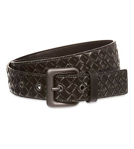 BOTTEGA VENETA Intrecciato leather belt (Calandre