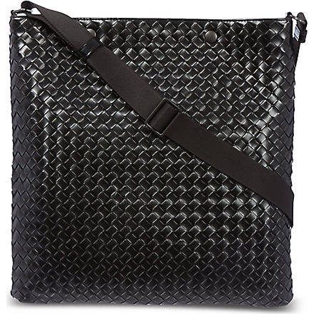 BOTTEGA VENETA Woven messenger bag (Calandre/matita