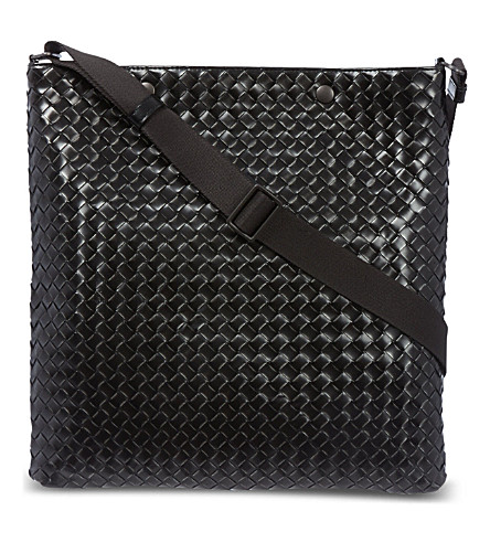 BOTTEGA VENETA Intrecciato leather messenger bag (Calandre/matita