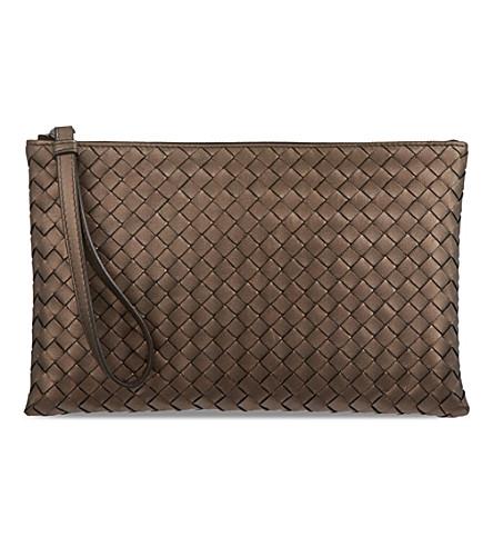 BOTTEGA VENETA Woven pouch (Smoke