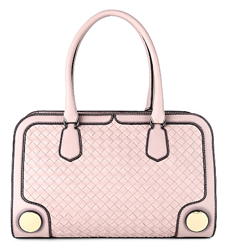 BOTTEGA VENETA Intreccio Sphere woven leather tote (Blush