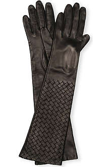 BOTTEGA VENETA Long nappa quilted gloves