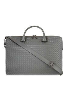 BOTTEGA VENETA Woven leather briefcase