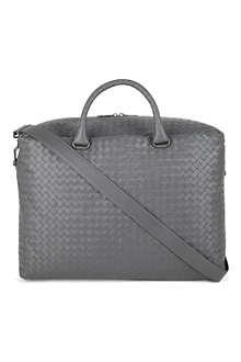 BOTTEGA VENETA Woven leather weekend bag