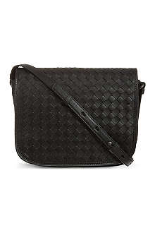 BOTTEGA VENETA Woven flap cross-body bag