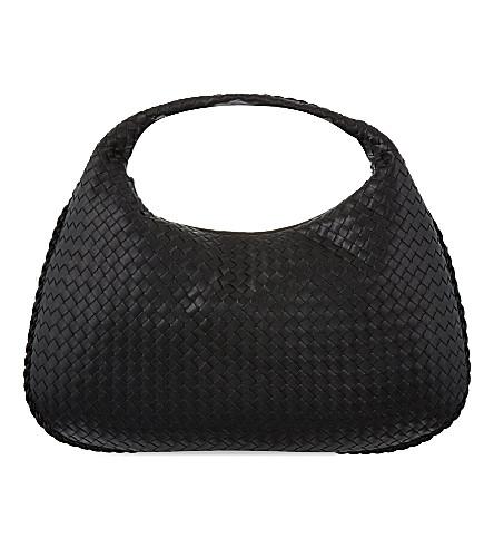 BOTTEGA VENETA Intrecciato leather medium hobo bag (Nero