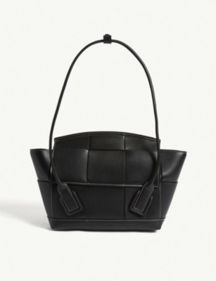 Arco trapeze woven small leather shoulder bag(8108960)