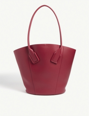 Leather tote bag(8340486)