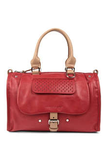 LONGCHAMP Balzane roots leather bowling bag