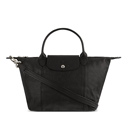 LONGCHAMP Le Pliage Cuir small handbag (Black