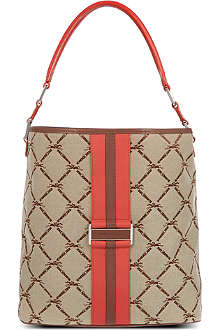 LONGCHAMP Jacquard hobo bag