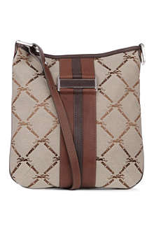 LONGCHAMP LM jacquard cross-body bag