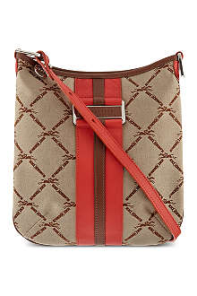 LONGCHAMP LM jacquard cross body bag