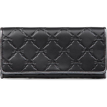 LONGCHAMP LM Cuir leather wallet (Black