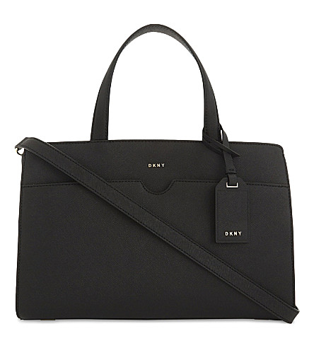 DKNY Bryant Park East/West leather tote (Black