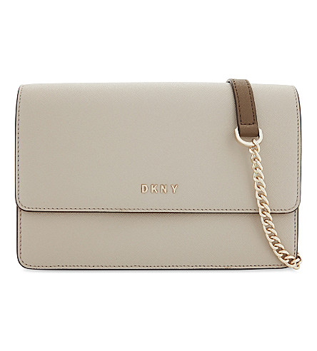 DKNY Bryant Park small leather cross-body bag (Blush+grey