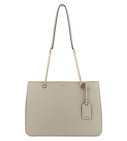 DKNY Bryant Park Saffiano leather tote (Blush+grey