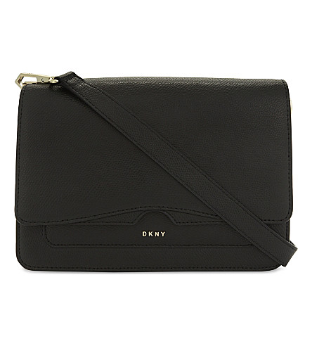 DKNY Bryant Park Saffiano leather front flap cross-body bag (Black