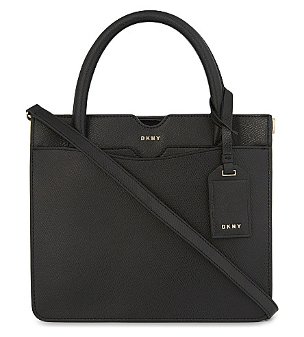 DKNY Bryant Park small leather tote (Black