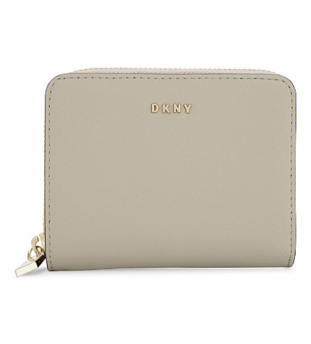 DKNY Bryant Park small Saffiano leather purse (Blush+grey