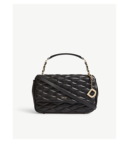 DKNY Quilted leather shoulder bag (Black