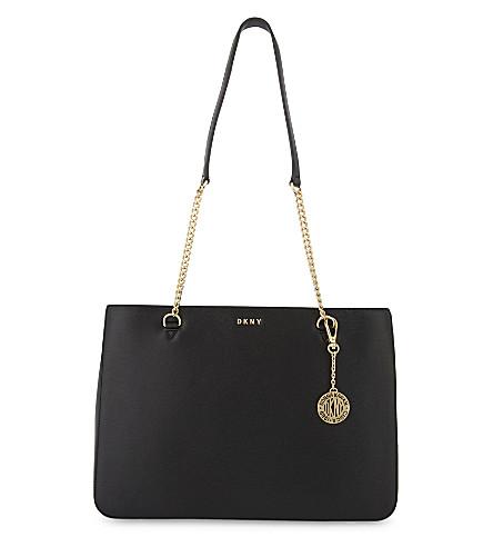 DKNY Bryant Park large leather shoulder bag (Black
