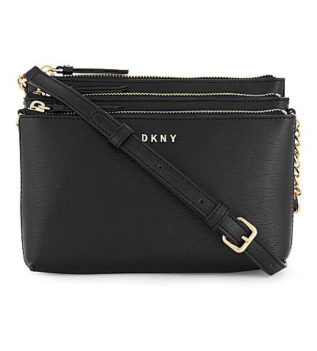 DKNY Bryant Park leather cross-body bag (Black
