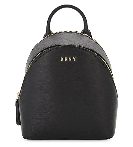DKNY Bryant Park leather cross-body backpack (Black