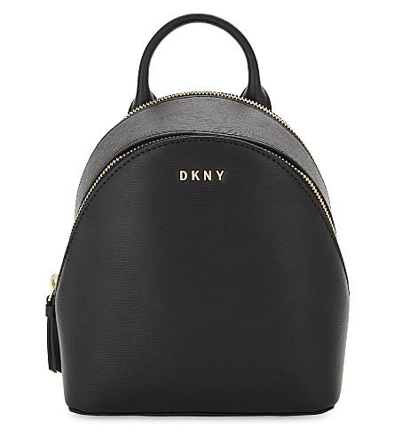 DKNY Bryant Park leather cross-body backpack (Black
