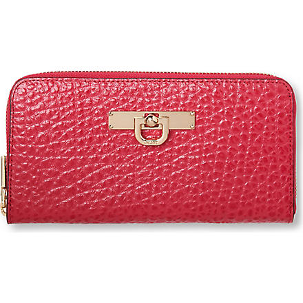 DKNY French Grain zip–around wallet (Pink