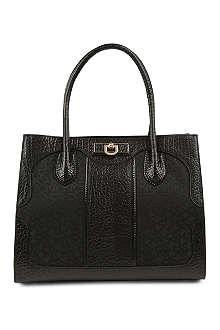 DKNY Town & Country twill and leather tote