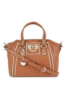 DKNY Vintage Town & Country leather satchel