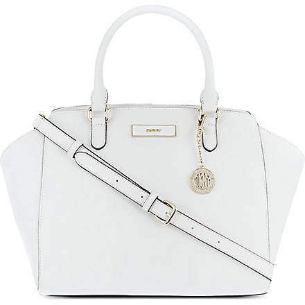 DKNY Saffiano leather satchel (White