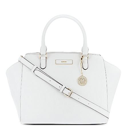 DKNY Saffiano leather satchel (White