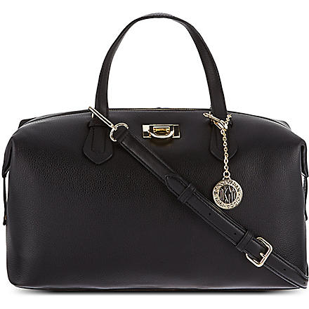 DKNY Vintage leather satchel (Black