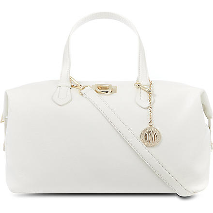 DKNY Vintage leather satchel (White