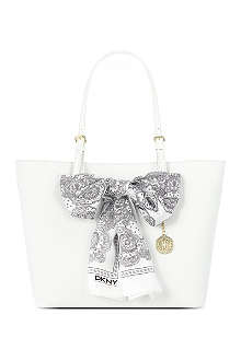 DKNY Saffiano leather scarf tote