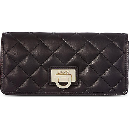 DKNY Large quilted wallet (Black