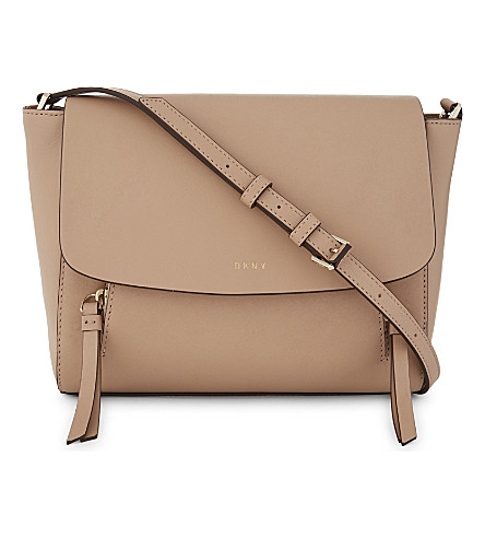 DKNY Greenwich small leather messenger bag (Tarp