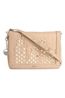 DKNY Skyline studded leather clutch