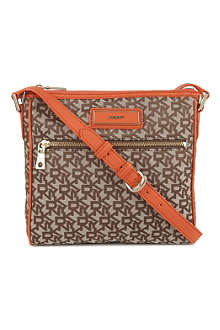 DKNY Town & Country fabric cross-body bag