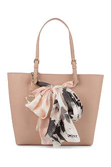 DKNY Saffiano leather scarf shopper
