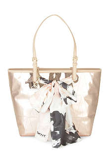 DKNY Quilted leather scarf shopper