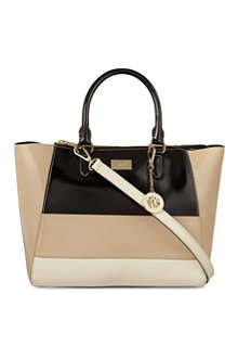 DKNY Hudson two-tone leather tote